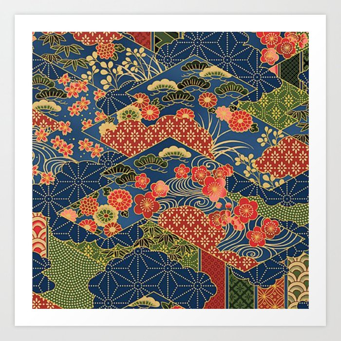 Japan Quilt Kunstdrucke