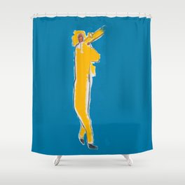 Untitled Homage to Basquiat Shower Curtain