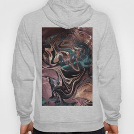 Metallic Rose Gold Marble Swirl Hoody