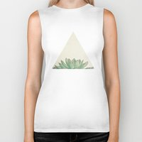 cassia beck Biker Tanks featuring Echeveria by Cassia Beck