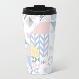 Retro Contemporary Geometrical Pattern Travel Mug