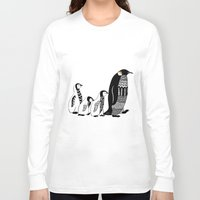penguins Long Sleeve T-shirts featuring Penguins by Sophie H.