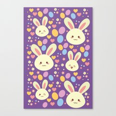 Kawaii Bunny Canvas Print