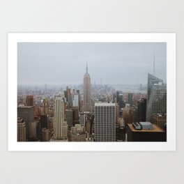 NYC Skyline From Top of the Rock | Empire State Building | City Photography Art Print