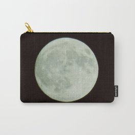 Bright white full moon with black sky Carry-All Pouch