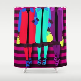 sisterhood of the traveling bag Shower Curtain