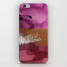 Comfort: a pretty abstract mixed media piece in gray, purple, red, black, and white iPhone Skin