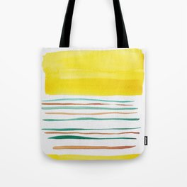 13  |181026 Lines & Color Block | Watercolor Abstract | Modern Watercolor Art Tote Bag