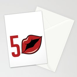 "Birthday Shirt For Those Whose Birthday Is Coming Near ""Fabolous 50"" T-shirt Design Kiss Lipstick Stationery Cards"