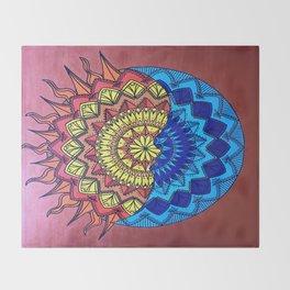 LunaSol Mandala Throw Blanket