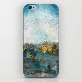 Lapis - Contemporary Abstract Textured Floral iPhone Skin
