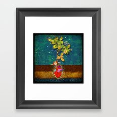 even though i buried my heart, my love has blossomed Framed Art Print