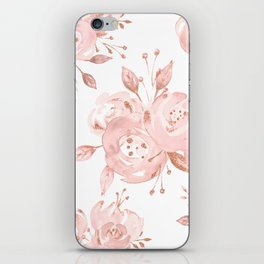 Roses Rose Gold Glitter Pink by Nature Magick iPhone Skin