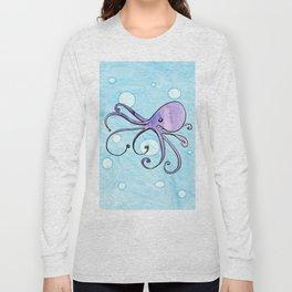 Purple Octopus Long Sleeve T-shirt