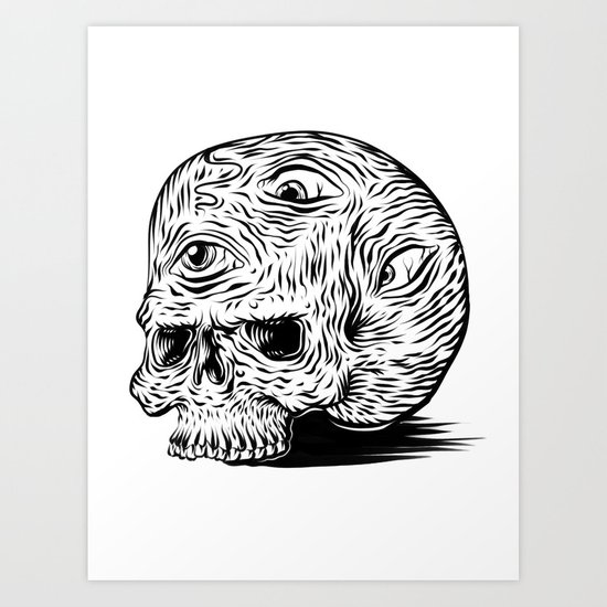 third-eyed skull Art Print