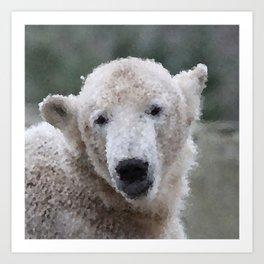 Poly Animals - Polar Bear Art Print
