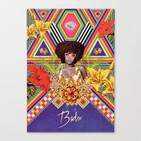 erykah badu Canvas Prints featuring ERYKAH BADU by Gabriel Martins