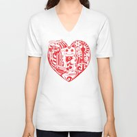 airplanes V-neck T-shirts featuring isabelle by Gray