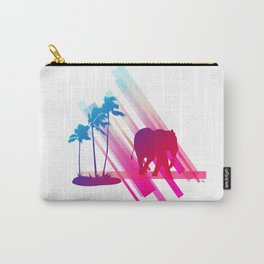 Neon Elephant Carry-All Pouch