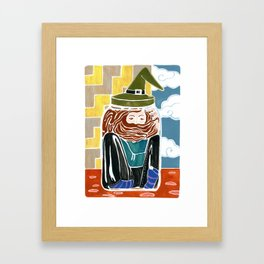 """Why I Cackle"" Framed Art Print"