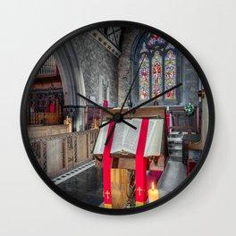 Sacred Texts Wall Clock