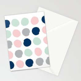 Minimal painted dots gender neutral home decor minimalist nursery baby polka dots Stationery Cards