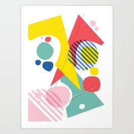 Abstract Pop IV Art Print
