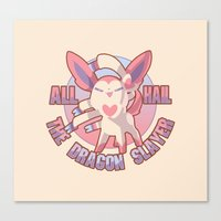 sylveon Canvas Prints featuring All Hail Sylveon by Solis