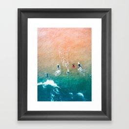 Five Surfers v1 Framed Art Print