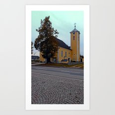 The village church of Neusserling I | architectural photography Art Print