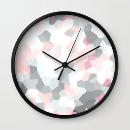 geometric mix/ grey  Wall Clock