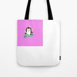 Baseball Penguin from WISCONSIN  T-Shirt Tote Bag