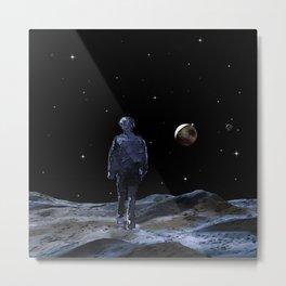 Walking on the Moon Metal Print