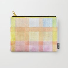 Pastel colored Watercolors Check Pattern Carry-All Pouch