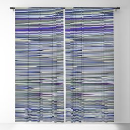 BESTILL purple blue neutrals lake abstract Blackout Curtain