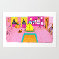 the royal tenenbaums Art Prints featuring The Royal Tenenbaums Tent. by Alxndra Cook