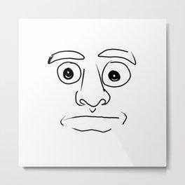 plain face Metal Print