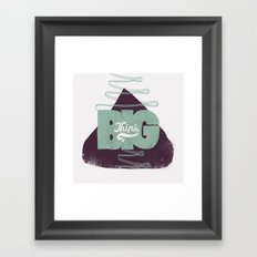 Think Big Framed Art Print