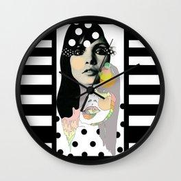 b & w Wall Clock