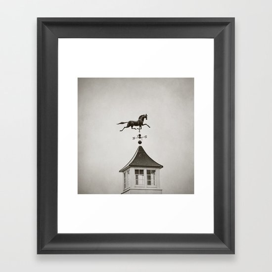 Horse Weathervane Framed Art Print
