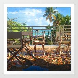 Tropical Beach View Puerto Rico Art Print