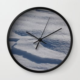 Sparkling Snow Wall Clock