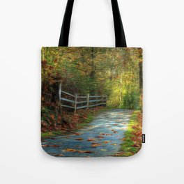 Fenced Autumn Tote Bag