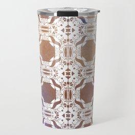 WHITE AND GOLD WATERCOLOR MOSAIC  Travel Mug