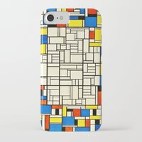 mondrian iPhone & iPod Cases featuring Mondrian by PureVintageLove