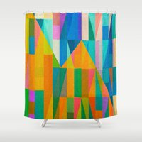climbing Shower Curtains featuring By Climbing Colors by Fernando Vieira