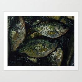 A Crappie Day Art Print