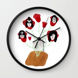 Kiss From a Rose Wall Clock