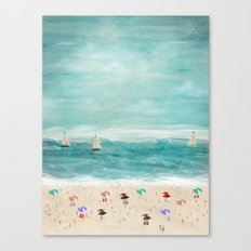 the beach Canvas Print
