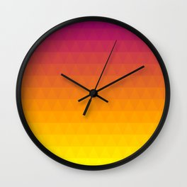 Pink and Yellow Ombre - Flipped Wall Clock